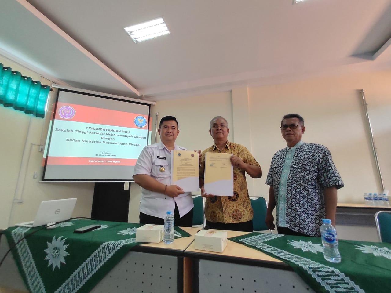PENANDATANGANAN MoU dengan BNN Kota Cirebon